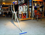 Tim vacuums the Colorado Ski Museum